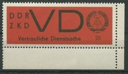 DDR 1965 Für Vertrauliche Dienstsachen 3 X Ecke Unten Rechts Postfrisch - [6] République Démocratique