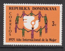 1975 Dominican Republic Women's Year Complete Set Of 1 MNH - Dominicaine (République)