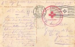 CARTE CROIX ROUGE FRANC DE PORT 1916 SECOURS AUX BLESSES BERNE - Guerre De 1914-18