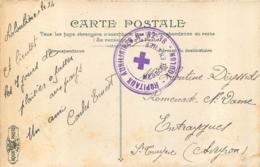 CARTE CROIX ROUGE  HOPITAUX AUXILIAIRES TOULON MEDECIN EN CHEF - Guerre De 1914-18
