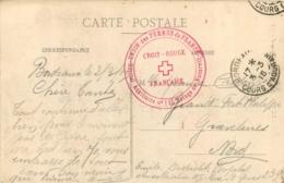 CARTE CROIX ROUGE  FRANCAISE 1915 UNION DES FEMMES DE FRANCE HOPITAL AUXILIAIRE N°115 REFUGE DE NAZARETH - Guerre De 1914-18