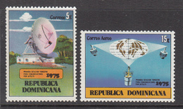 1975 Dominican Republic Satellite Complete Set Of 2 MNH - Dominicaine (République)