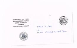 Lettre De La Commune De Saint-Germain-de-Pasquier (Eure)  à Siant-Amand Des Hautes Terres. - Marcophilie (Lettres)