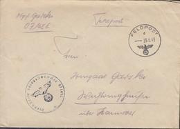 Feldpost Nr 07165 E, Brief Ohne Inhalt, Mit Stempel: Feldpost D - 25.6.1943, Nebenstempel: FPN - 1939-45