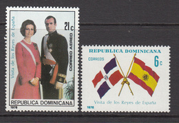 1976 Dominican Republic  Spain Royalty Flags  Complete Set Of 2 MNH - Dominican Republic