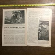 1901 DOCUMENT L ART DE PEINDRE SANS COULEURS EMPLOI IMPREVU DES TIMBRES POSTE - Vieux Papiers
