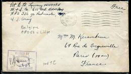 BELGIQUE - LETTRE AVEC TEXTE , EN FRANCHISE DES ARMÉES US OBL. APO 66 DU 19/3/1945 POUR LA FRANCE AVEC CENSURE - TB - Guerre 40-45
