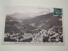 F4  AMELIE LES BAINS Panorama De La Ville - Autres Communes