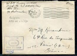 BELGIQUE - LETTRE AVEC TEXTE , EN FRANCHISE DES ARMÉES US OBL. APO 66 DU 16/3/1945 POUR LA FRANCE AVEC CENSURE - TB - Guerre 40-45