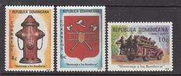 1976 Dominican Republic  Firefighting   Complete Set Of 3 MNH - Dominicaine (République)