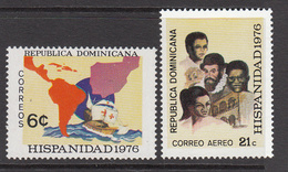 1976 Dominican Republic  Spain Heritage Columbus Ships   Complete Set Of 2 MNH - Dominicaine (République)