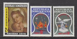 1976 Dominican Republic Christmas Navidad Noel  Complete Set Of 3 MNH - Dominicaine (République)
