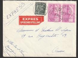 768 - 770 Op Brief Spoedbestelling Van JAMOIGNE Naar ANVERS - 1948 Exportation