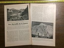 1901 DOCUMENT UNE MERVEILLE DE LA NATURE MONTAGNE DE SEL DE CARDONA - Vieux Papiers