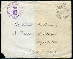 """BELGIQUE - CS """" BELAAC / CLUB DE BAD GODESBERG """" OBL. DU BPS 11 LE 11/9/1948 - TB - Guerre 40-45"""
