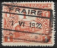 TR115 - 1F Roodbruin - Afstempeling 'FRAIRE' - 1922 - Chemins De Fer