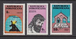 1977 Dominican Republic  Holy Week Complete Set Of 3 MNH - Dominicaine (République)
