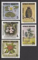 1977 Dominican Republic   Botanical Garden Flowers Fleurs Complete Set Of 5 MNH - Dominicaine (République)