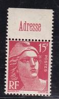 """PUBLICITE : GANDON 15F ROUGE """"ADRESSE"""" ACCP 1117 NEUF** COTE:15E - Publicités"""