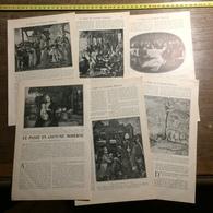 1901 DOCUMENT LE PASSE EN COSTUME MODERNE ETRANGES ANACHRONISMES DANS L ART - Vieux Papiers