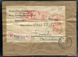 BELGIQUE - FRGT. DE COLIS POSTAL RECOMMANDÉE , AFFR. 8,45F AVEC MACHINE N° B.316 DE OUDE-GOD EN 1935 - TB - Machines à Affranchir