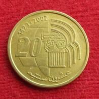 Morocco 20 Santimat 2002 Y# 115  Maroc Marrocos Marokko Marruecos - Maroc