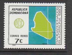 1980 Dominican Republic  Amateur Radio Maps Complete Set Of 1 MNH - Dominicaine (République)