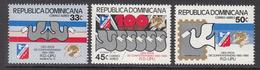 1980 Dominican Republic  UPU Complete Set Of 3 MNH - Dominicaine (République)