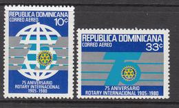 1980 Dominican Republic  Rotary International  Complete Set Of 2 MNH - Dominicaine (République)