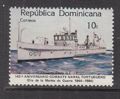 1984 Dominican Republic  Coast Guard Ship Complete Set Of 1 MNH - Dominicaine (République)