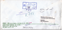 1992 , Iran To Moldova ,  Used Cover - Iran