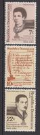 1984 Dominican Republic Pedro Urena  Complete Set Of 3 MNH - Dominicaine (République)