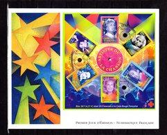 """"""" CLAUDE FRANCOIS DALIDA BARBARA  GAINSBOURG BERGER """" Sur Enveloppe 1er Jour Grand Format De 2001 N°YT BF 85. Parf état - Chanteurs"""