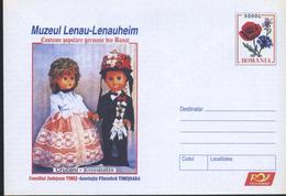 Poupees En Costume Traditionnel,Pavot / Papaver,Edelweiss  Entier Postal - Roumanie / Romania 2005 - Poupées