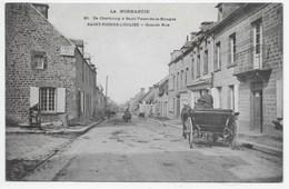 La Normandie - De Cherbourg A Saint-Vaast-de-la-Hougue 20 - Saint-Pierre-Eglise - Grande Rue - Dos Simple - Saint Pierre Eglise