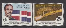 1984 Dominican Republic Independence Flags  Complete Set Of 2 MNH - Dominicaine (République)