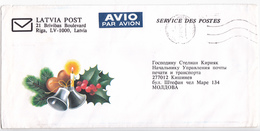 1992 , Lettonie To Moldova ,  Christmas , Used Cover - Lettonie