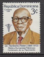 1984 Dominican Republic First Black Doctor   Complete Set Of 1 MNH - Dominicaine (République)