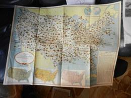 8F) CARTA DEGLI STATI UNITI D'AMERICA ESIBIZIONE PRINCIPALI RISORSE TIPICHE Ed DIPARTIMENTO DI STATO WASHINGTON - Mappe