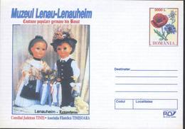 Poupees En Costume Traditionnel,Pavot / Papaver,Edelweiss  Entier Postal - Roumanie / Romania 2005 - Dolls