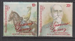 1984 Dominican Republic Gomez  Complete Set Of 2 MNH - Dominicaine (République)