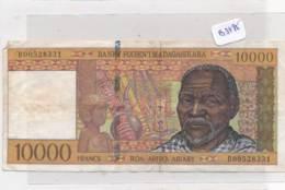 Numismatique -B3495- Madagascar -10000 Francs ( Catégorie,  Nature état ... Se Référer Au Double Scan) - Billets