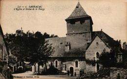 46 - SARRAZAC - L'Eglise Et Statue De La Vierge - Autres Communes