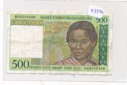 Numismatique -B3496- Madagascar -500 Francs ( Catégorie,  Nature état ... Se Référer Au Double Scan) - Other - Africa