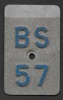 Velonummer Basel Stadt BS 57 - Plaques D'immatriculation