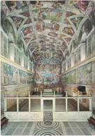 E1257 CITTA DEL VATICANO - CAPPELLA SISTINA - CARTE TIMBREE OBLITEREE POSTE VATICANE - IN UNIVERSUM MUNDUM - Vatican