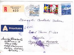 1992 , Suisse  To Moldova ,  Used Cover - Switzerland