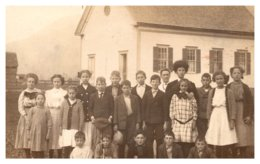 Vermont Hancock , 1 Room Schoolhouse,  Students  Photo RPC - United States