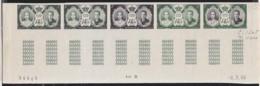 MONACO (1956) Princess Grace. Prince Rainier. Trial Color Proofs In Strip Of 5 With Multicolor. Scott No 366, - Royalties, Royals