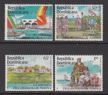 1985 Dominican Republic  Sailing Regatta Columbus Complete Set Of 4 MNH - Dominicaine (République)
